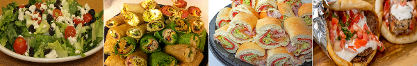 catering wrap trays, catering hoagie trays, catering salads